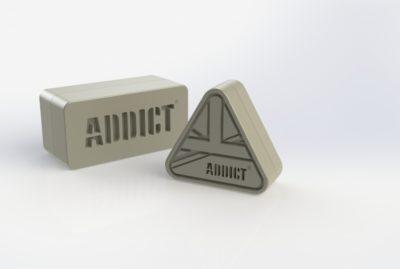 Addict Brand Block Merchandising
