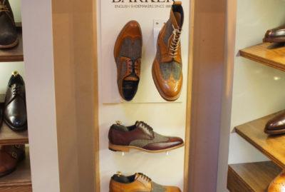 Barker Shoes Shop Corner Merchandising