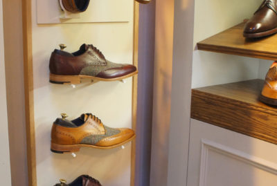Barker Shoes Tall Freestanding POS