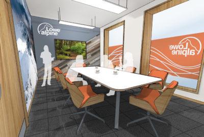 Lowe Alpine Meeting Room Concept Design