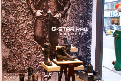 G-Star RAW Retail Merchandising Shop Window