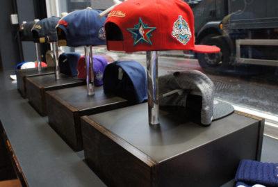 Mitchell & Ness Hat Window Display