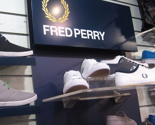 Fred Perry Shoes Point Of Sale Close Up